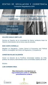 Lo invitamos al coloquio este 25 de mayo de las 18:00 en el Auditórium Alessandri.
